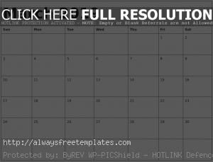 March Calendar 2019 Template Excel